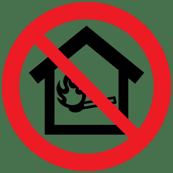 屋内火気厳禁